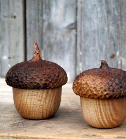 Acorn Button Box! Adorable idea and fine woodworking