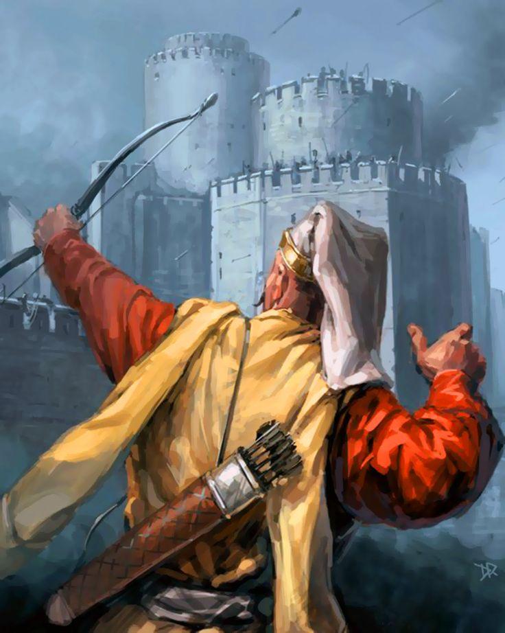 Ottoman Janissary archer besieging Constantinople