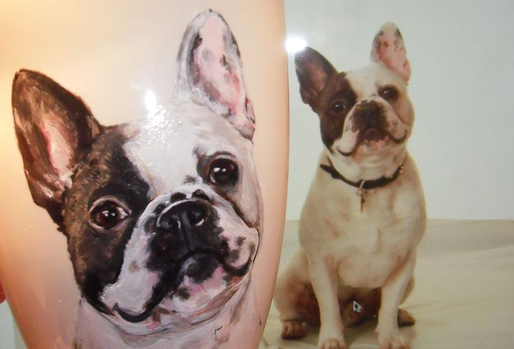 french bulldog  hand painted customized mug