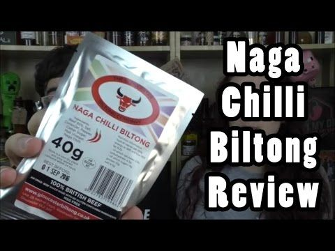 Naga Chilli Biltong Review. A Spicy Snack From Gloucester Biltong Company | Lick My Dip March 2016 - YouTube