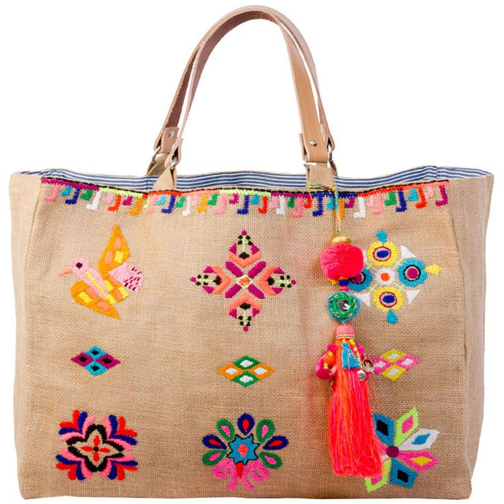 Star Mela embroidered tote.