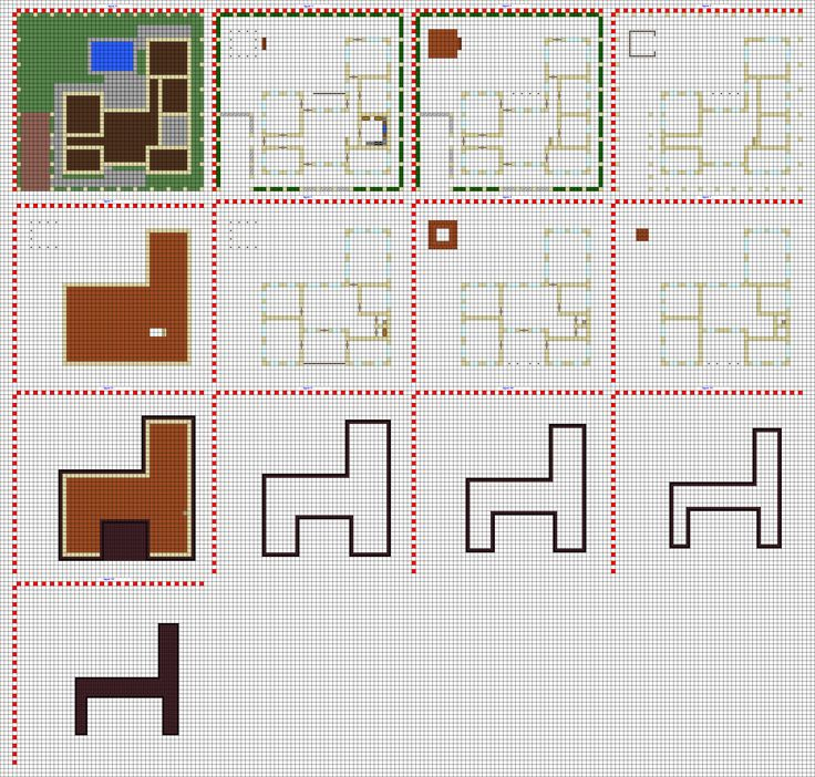 Minecraft Modern House Blueprints Layer By Layer Google