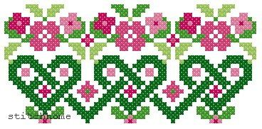pretty cross stitch motif