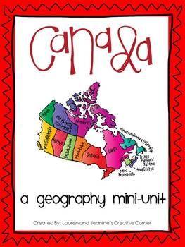 Canada - A Geography Mini-Unit $$$