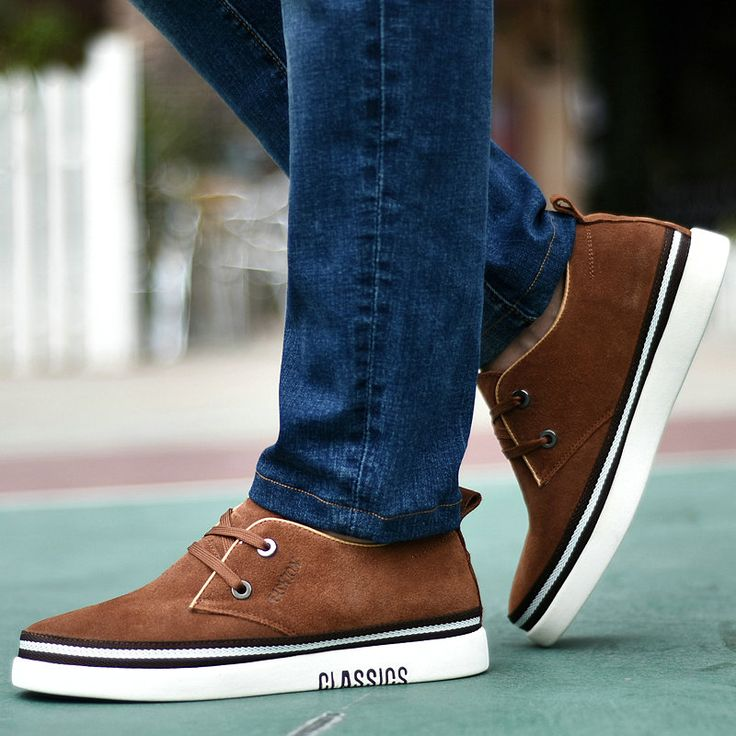 2015 Winter Shoes For Men Fashion Sapatos With Fur Classic Height Increasing Male Platform Footwear Black Blue Brown