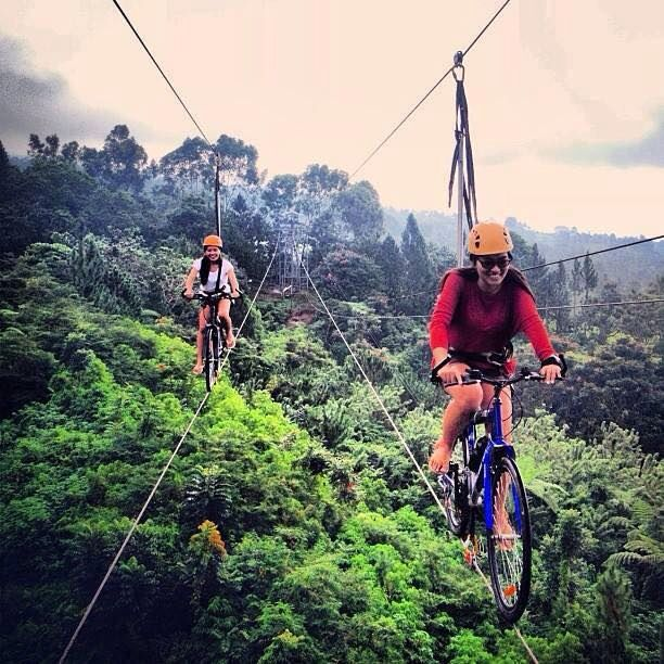 Ride a bike while suspended 60 feet in the air, Davao city Philippines #MODextreme