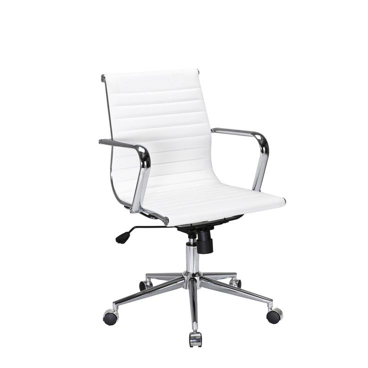 Fresno Mid Back Chair White
