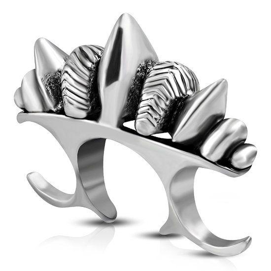 https://www.goedkopesieraden.net/Zilveren-dubbele-ring-open-model-met-spikes