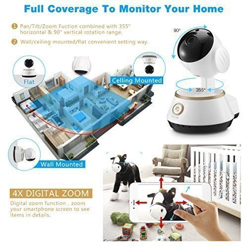 IP Camera Home Security Surveillance System Motion Detection Audio Night Vision #IPCameraHomeSecurity