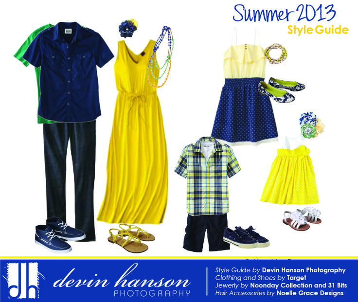 Blue/green/yellow. But Blue Dress Yellow Necklace ...