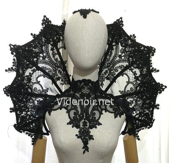 Elizabethan gothic Collar Vampire style shoulder piece – big size
