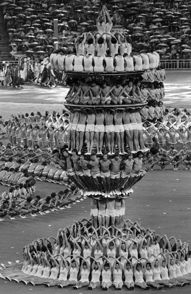 .Церемония открытия 22-ых Летних олимпийских игр в Москве, 1980 год