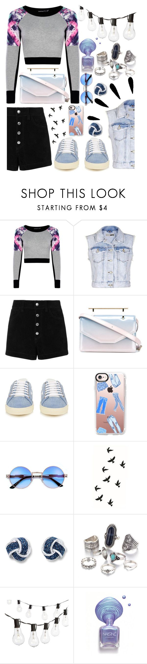 """""""History (Oliva Holt)"""" by superswimmerca ❤ liked on Polyvore featuring Topshop, Old Navy, rag & bone/JEAN, M2Malletier, Yves Saint Laurent, Casetify and Crate and Barrel"""