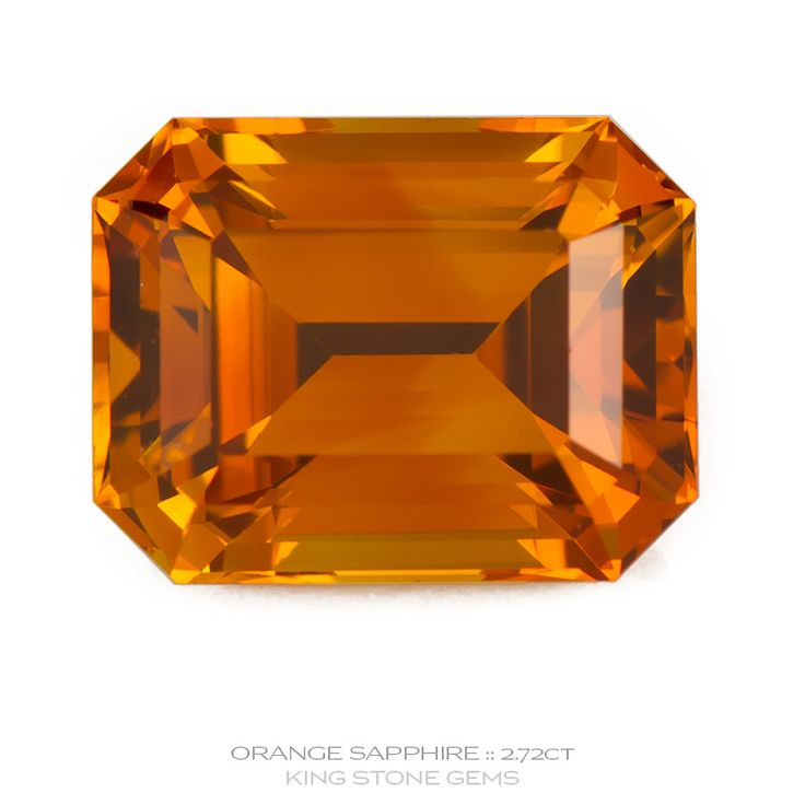 Sri Lankan Orange Sapphire 2.72ct | KING STONE GEMS