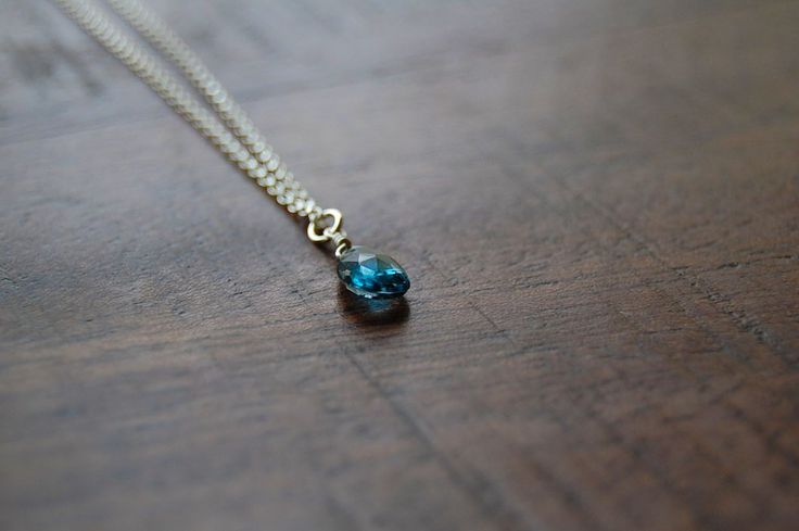 Dark Topaz Solo Gemstone Necklace - Dianne Rodger Jewellery