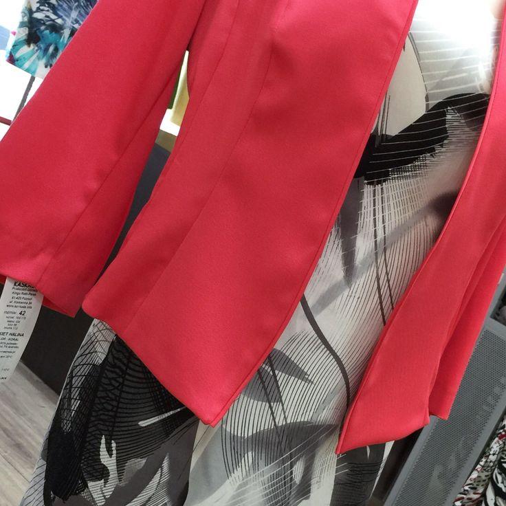 Piękna czerwień + finezyjna czerń i biel #szczecin #margofashion