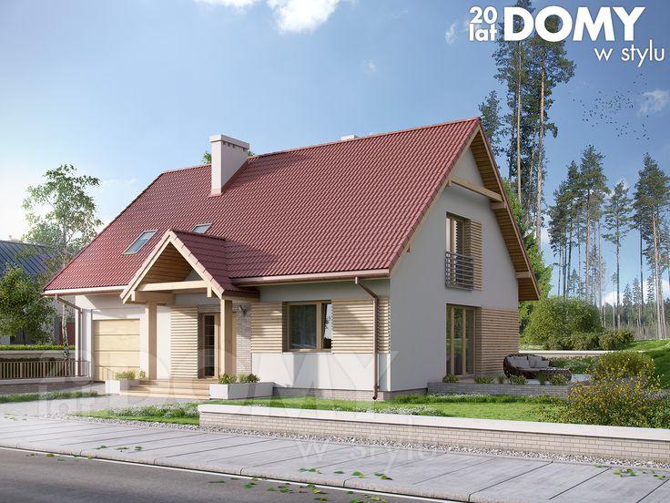 Projekt domu Orzech 2 o powierzchni 148 m2. Jest to dom z użytkowym poddaszem z garażem w bryle budynku. Szczegóły projektu dostępne są na stronie: http://www.domywstylu.pl/projekt-domu-orzech_2.php. #orzech2 #projekty #projekt #domy #style #architektura #domywstylu #mtmstyl #projektygotowe #domyzpoddaszem