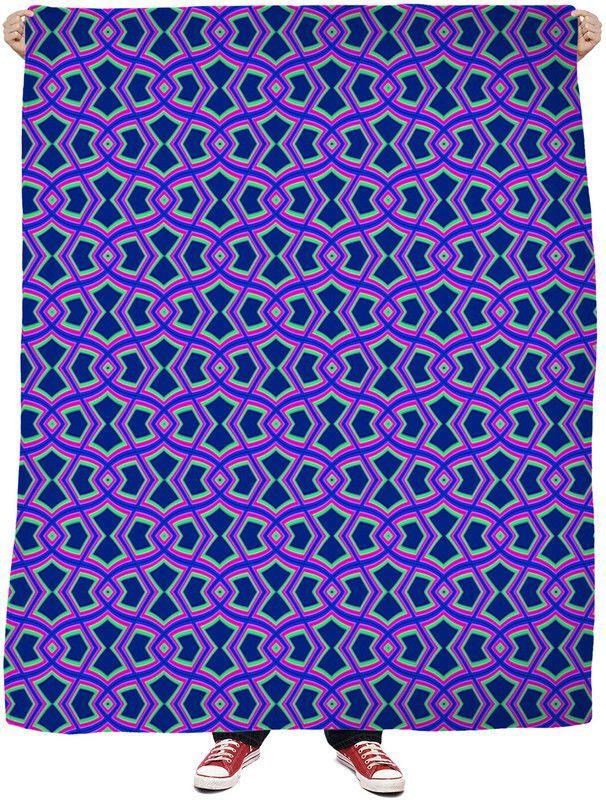 Diamond Shapes on Blue Blanket by Terrella