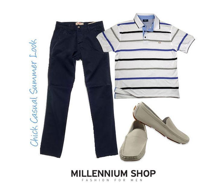 #Official # Summer # Look  Chinos: http://goo.gl/eJYhZZ T-shirt Polo: http://goo.gl/6hdfVx Moccasins: http://goo.gl/OaH6wh