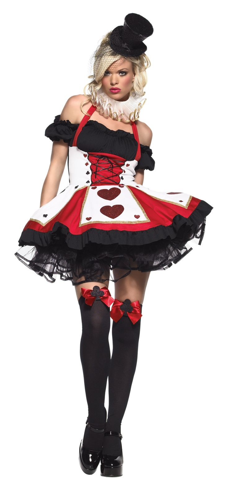 Queen of Hearts ...also sold on ebay http://www.ebay.com/itm/Pretty-Playing-Card-Leg-Avenue-Costume-XS-SM-ML-XL-1X-2X-3X-4X-/200661736587?pt=US_Costumes==item746c274c9a