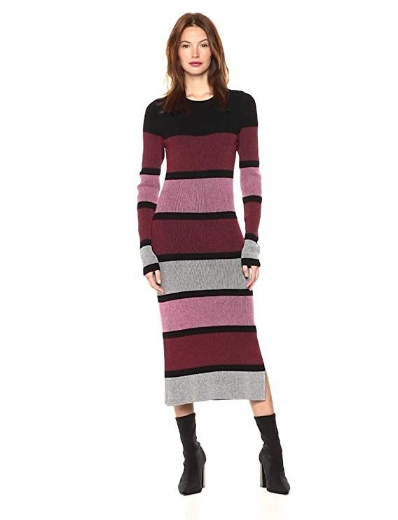 ce1451c1b9f Cable Stitch Women s Stripe Ribbed Dress