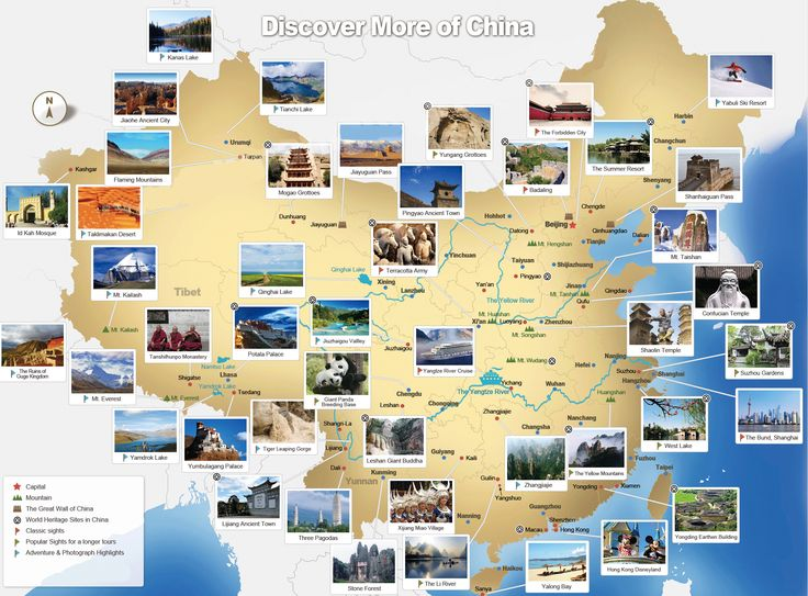 China Tourist Map - super inspiring for trip planning  <3