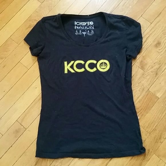 """CHIVE shirt This is an authentic KCCO Chive shirt, it is an Iowa shirt, but you can't really tell as it only has Iowa symbols in the """"O"""". Chive Tops"""