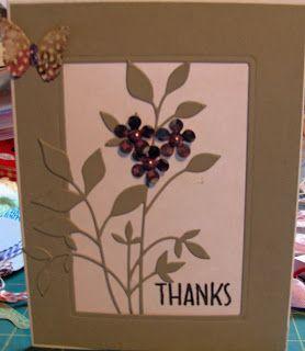 This card features the Memory Box die cut fresh foliage.