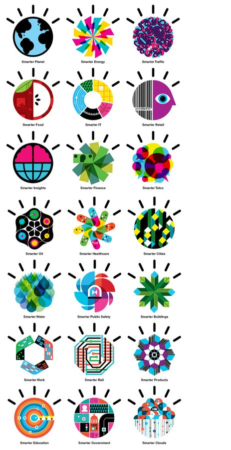 Advertising / IBM smarter planet icons — Designspiration