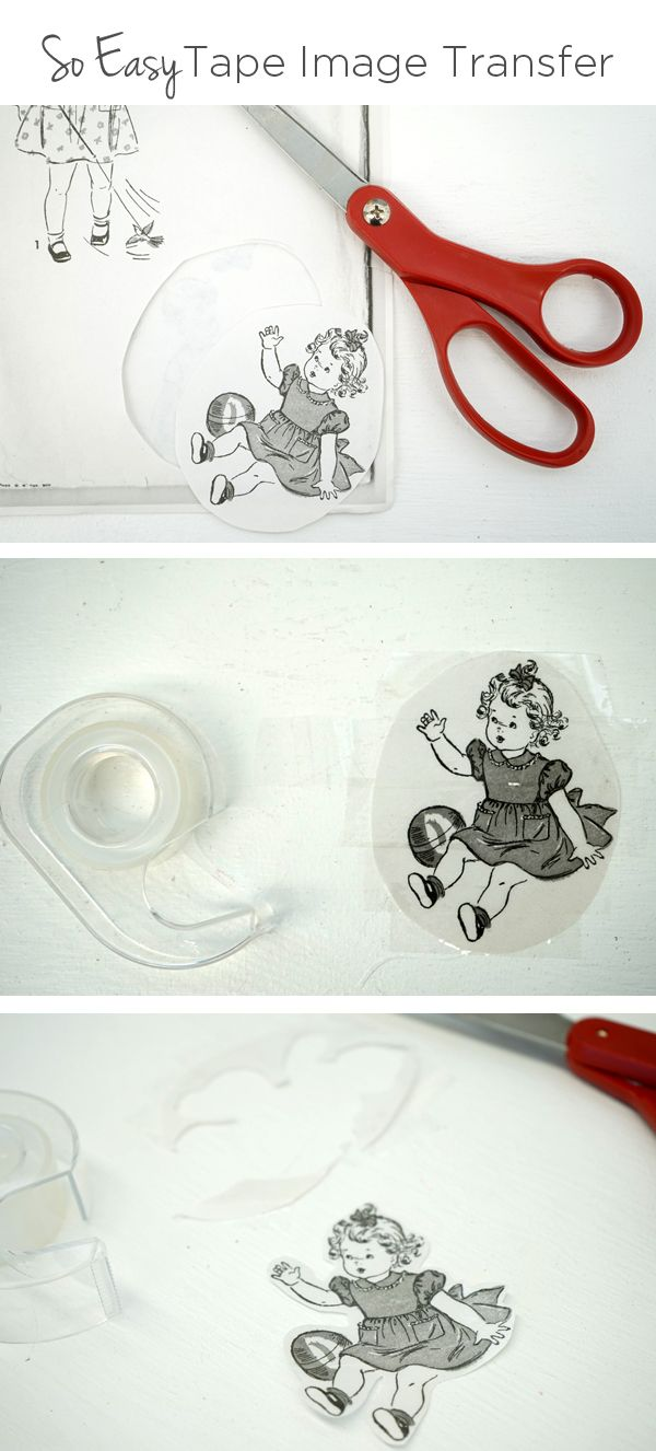 Super easy clear tape photocopy image transfer art technique | TinkerLab.com