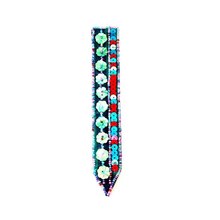 Emellished Bookmark-£2 #prettytwisted #emebellished #stationary #bookmark http://prettytwistedonline.co.uk/product/embellished-bookmark-2/