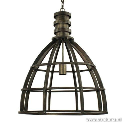 Metalen Hanglamp Ivy Antiek Zwart