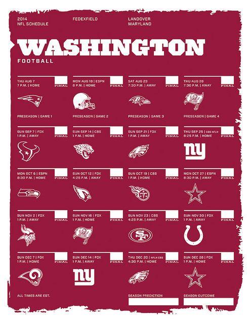 Washington 2014 NFL Schedule