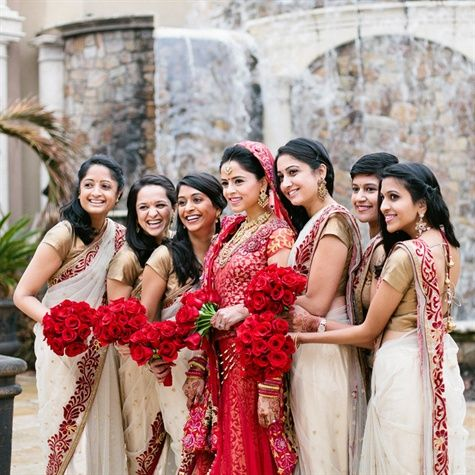 Indian Bridal Party Attire #fashion #wedding #indianbride