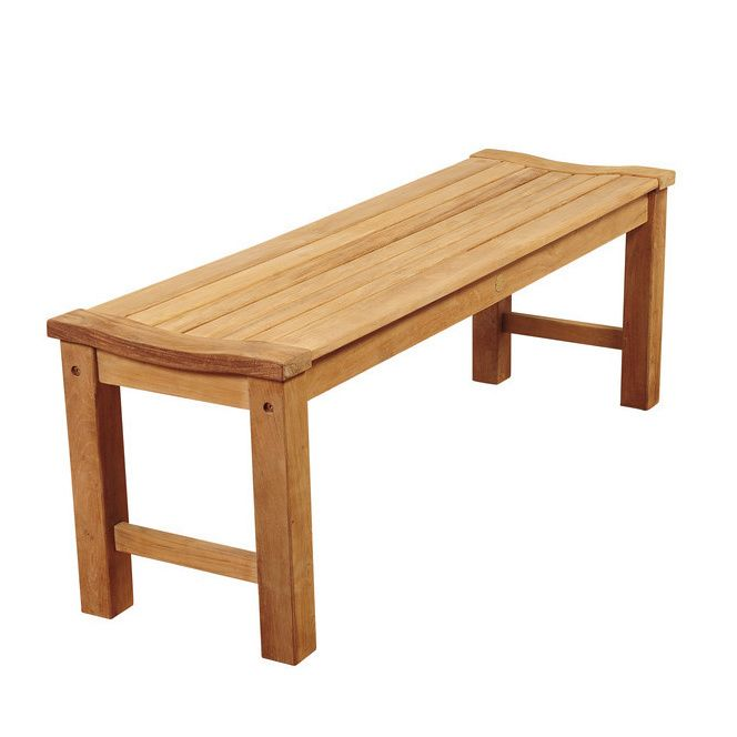 Amazonia Trento Teak Backless Patio Bench - Overstock Shopping - Great Deals on Amazonia Outdoor Benches