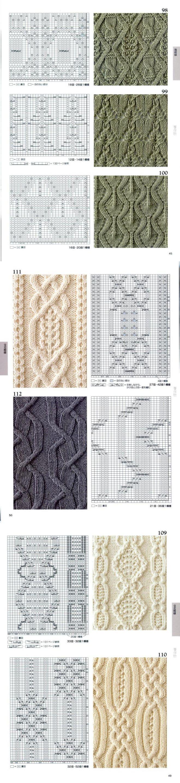 Японские узоры со схемами - №1 - Модное вязание