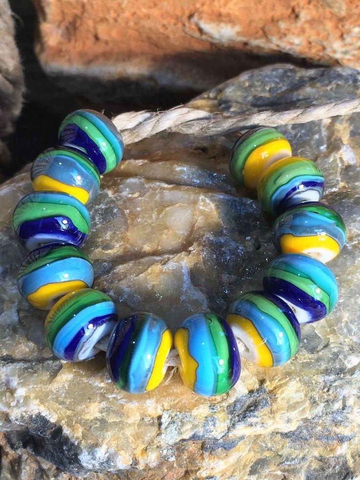 ~SUNFIRE BEADS~Handmade Artisan Lampwork Glass Beads, SRA #SRA #Lampwork
