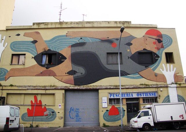 StreetArt Rome - Agostino Iacurci - Porto Fluviale - Ostiense
