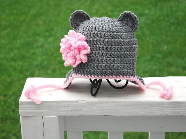 Bear hat with flower: Craft Beautiful, Baby Fever, Crochet Hats, Art, Baby Crochet, Craft Ideas, Baby Bears, Crafty Ideas