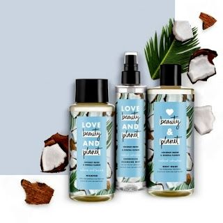 Love, Beauty & Planet coconut water and mimosa flower body wash shower gel