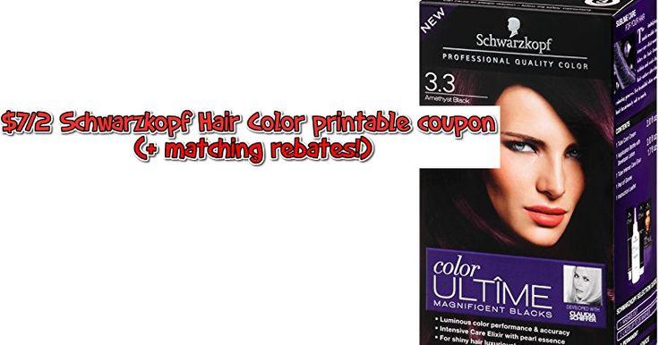 $7/2 Schwarzkopf Hair Color printable coupon + matching rebates - https://couponsdowork.com/2017/coupon-deals/72-schwarzkopf-hair-color-printable-coupon-matching-rebates/