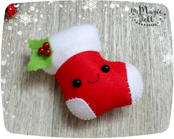 Media de fieltro Navidad adornos árbol de Navidad adornos