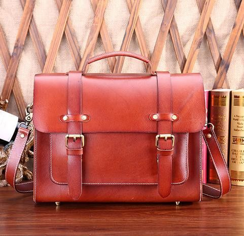 Women&Men Fashion Shoulder Messenger Bags Unisex Tote Business Briefcase Genuine Leather Satchel Bag Male Female Bolsas