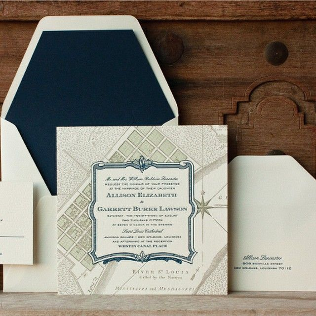 Scriptura   Letterpress Wedding Invitations With A New Orleans Flair