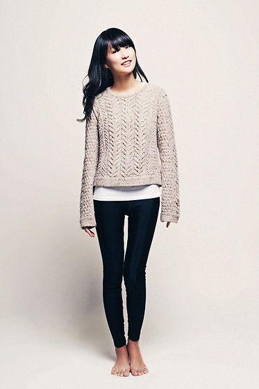 sun jang | back to basics (rag and bone sweater, american apparel leggings)