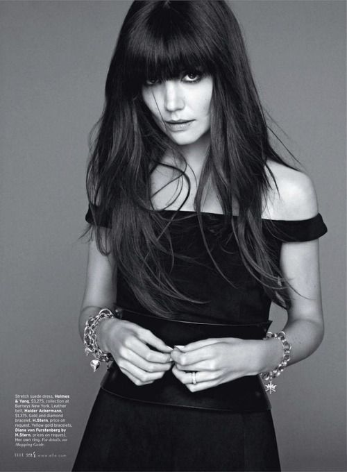 katie...love her in this shoot for elle...Katie Holmes, Fashion, Carter Smith, Style, Long Hair, Beautiful, Elle Magazine, Bangs, Katy Holmes