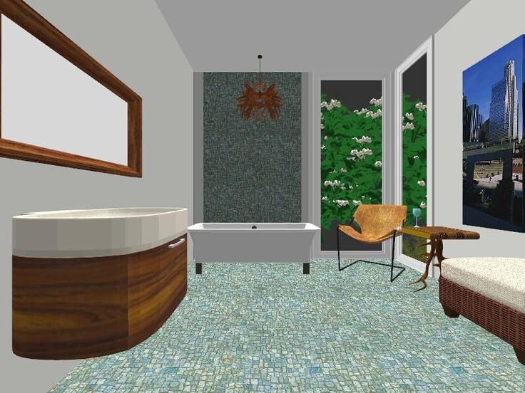 Design by Clara Puskas ~Award Winning Green Designer /A- Room/Option2
