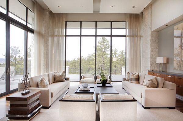 Beautiful window treatments for tall windows |  9 Treatments for High Windows.Tall windows should not be completely disguised or hidden – they should be the center of attention! Here are some treatment ideas to help you bring your windows into focus in a stylish way. (scheduled via http://www.tailwindapp.com?utm_source=pinterest&utm_medium=twpin&utm_content=post10712886&utm_campaign=scheduler_attribution)
