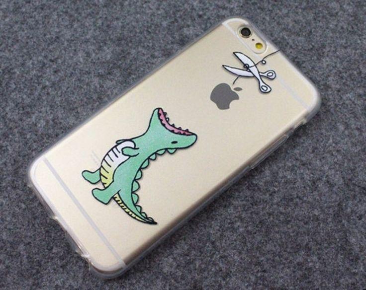 Dinosaur waiting to eat Apple Cute phone soft case for iPhone 5/5S/6/6S plus #UnbrandedGeneric