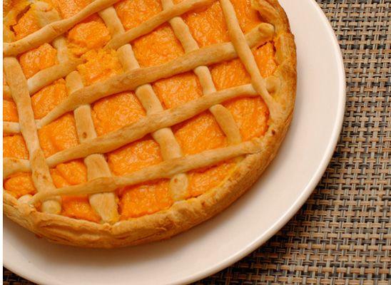 пирог с тыквенным заварным кремом